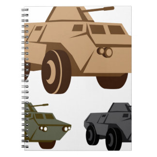 APC armored personnel carrier Spiral Notebooks