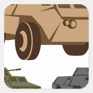 APC armored personnel carrier Square Sticker