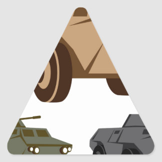 APC armored personnel carrier Triangle Sticker