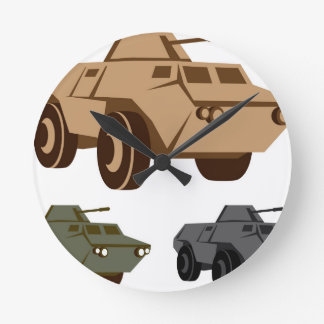 APC armored personnel carrier Wall Clocks