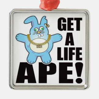 Ape Bad Bun Life Christmas Ornament
