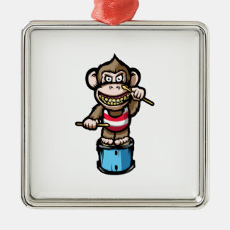 Ape Drum Christmas Ornament
