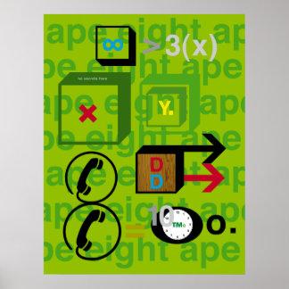 ape eight ape poster
