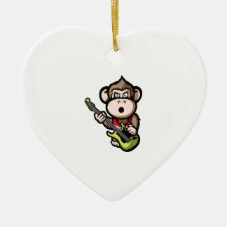 Ape Guitar Christmas Ornament