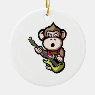 Ape Guitar Round Ceramic Decoration