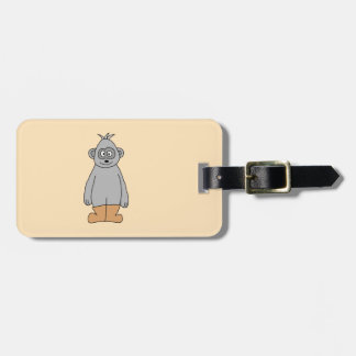 Ape in Brown Boots. Luggage Tag