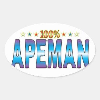 Ape Man Star Tag v2 Stickers