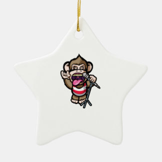 Ape Mic Christmas Ornament