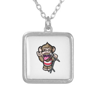 Ape Mic Silver Plated Necklace