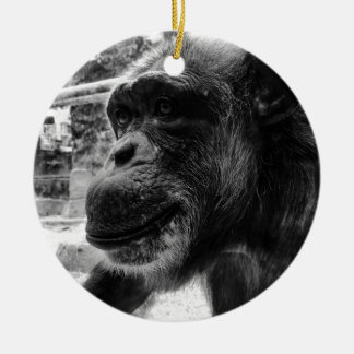 Ape Round Ceramic Decoration