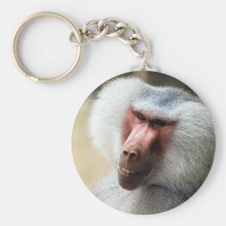 Ape saying howdy basic round button key ring