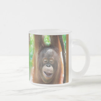 Ape with Joy Frosted Glass Coffee Mug