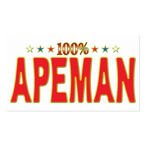 Apeman Star Tag Business Cards