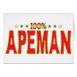 Apeman Star Tag Greeting Card