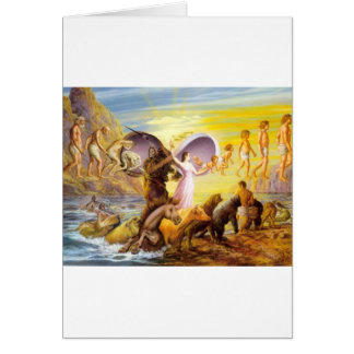 apes-angels greeting card