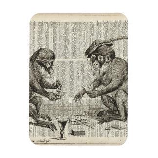 Apes playing cards rectangular photo magnet