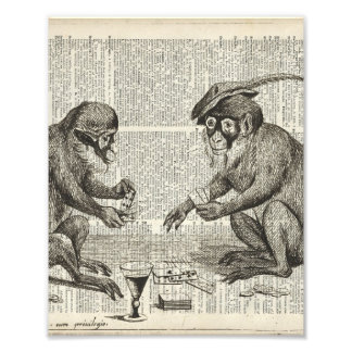Apes playing cards photograph