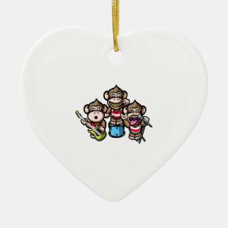 Apes Rock Ceramic Heart Decoration