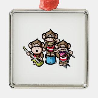 Apes Rock Silver-Colored Square Decoration