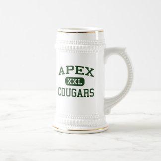 Apex - Cougars - High School - Apex North Carolina Beer Steins