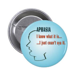 Aphasia 6 Cm Round Badge