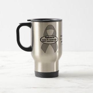 Aphasia Awareness Silver Ribbon Product Travel Mug