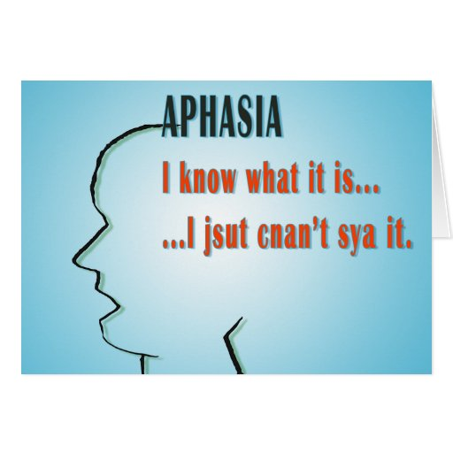 Aphasia Greeting Cards
