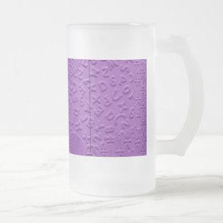 Aphasia in Purple Beer Mug