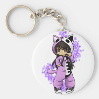 Aphmau Official Limited Edition Basic Round Button Key Ring