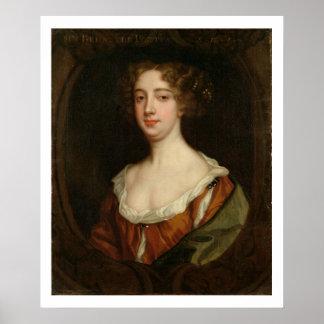Aphra Behn (1640-89) (oil on canvas) Print