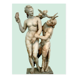Aphrodite, Pan and Eros Postcard