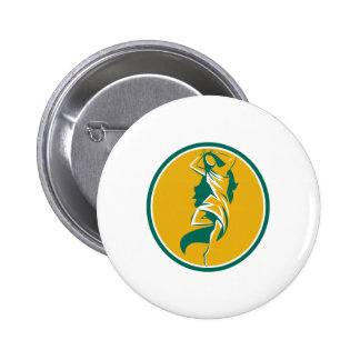 Aphrodite Pirouette Oval Retro 6 Cm Round Badge