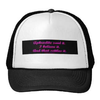 AphroditeSaidIt Mesh Hats