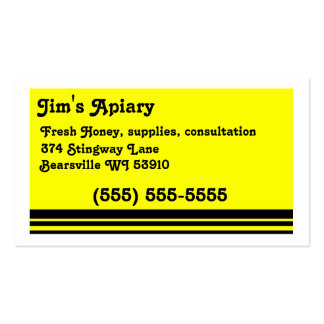 Apiary business cards
