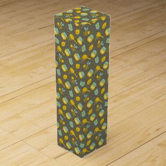 Apiary Honey Dipper Pattern Wine Bottle Box