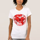 Aplastic Anaemia Butterfly Circle of Ribbons Tshirts