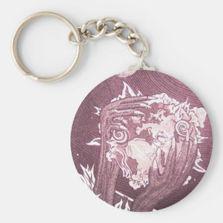 Apocalypse in Red Basic Round Button Key Ring