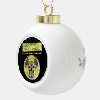 Apocalyptic Pest Control Ceramic Ball Decoration