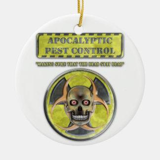 Apocalyptic Pest Control Round Ceramic Decoration