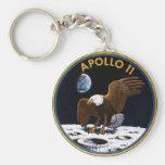 Apollo 11 basic round button key ring