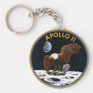 Apollo 11 basic round button key ring