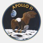 Apollo 11 classic round sticker