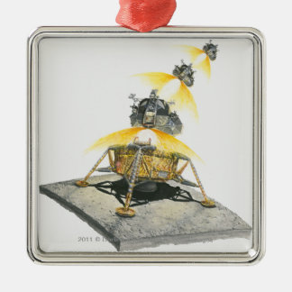 Apollo 11 Eagle module taking off from the Moon Christmas Ornament