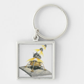 Apollo 11 Eagle module taking off from the Moon Key Ring
