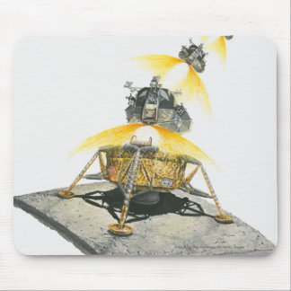 Apollo 11 Eagle module taking off from the Moon Mouse Mat