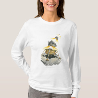 Apollo 11 Eagle module taking off from the Moon T-Shirt