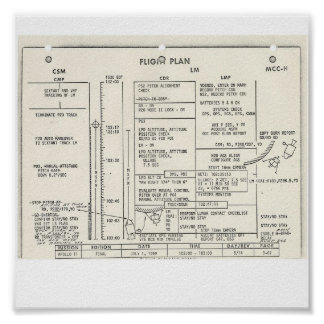 Apollo 11 Flight Plan Poster