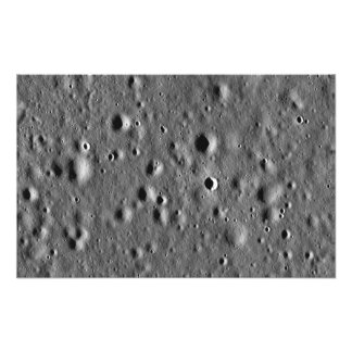 Apollo 11 landing site photo print