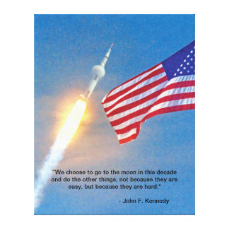 Apollo 11 Launch Stretched Canvas Print