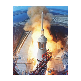 Apollo 11 Launch Stretched Canvas Prints